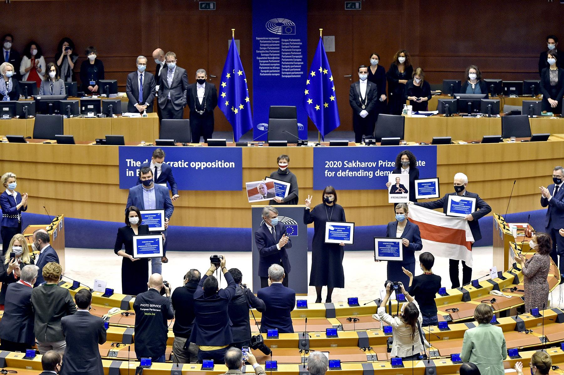 Belarusian opposition receives 2020 Sakharov Prize