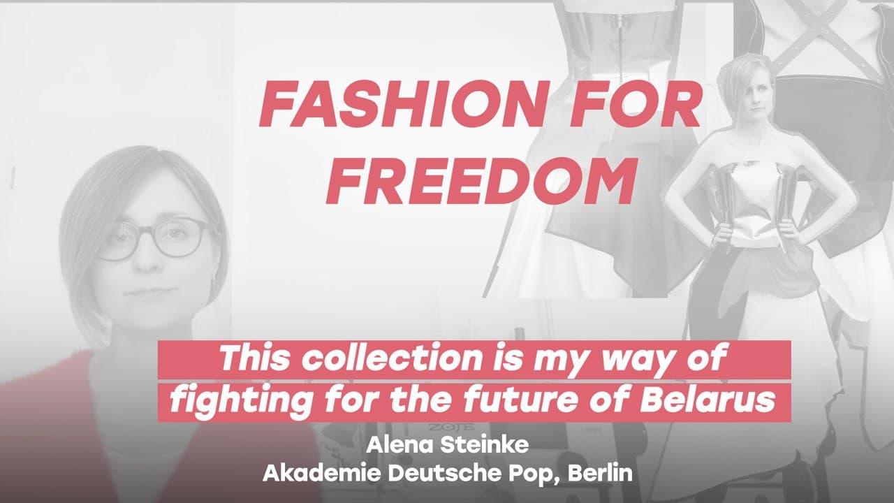 Alena Steinke, Fashion Designer, Akademie Deutsche POP, Berlin, presents her collection on developments n Belarus